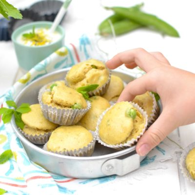 Muffins menthe-petits pois